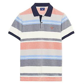 GANT multi riga Mens Polo Shirt