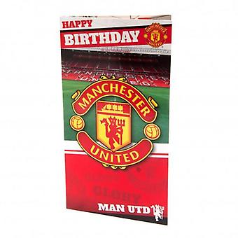 Manchester United Birthday Card Stadium
