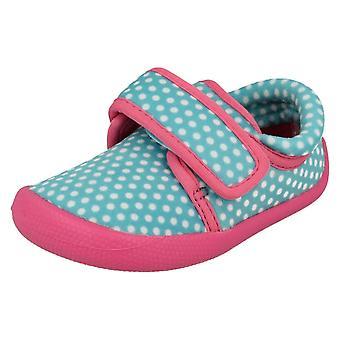 Infant Girls Clarks Machine Washable Slippers Shilo Dotty