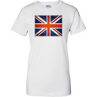 Union Jack Flag - Square Randeffekt - Damen-T-Shirt