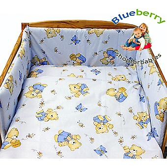BlueberryShop  2 pcs BABY COT BED BUNDLE BEDDING SET DUVET+PILLOW COVERS matching cot bed 120 x 150 cm (47