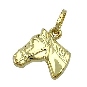 Gold pendants horse 375 ladies girls trailer horse head 9 KT GOLD