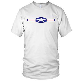 USAF Roundel effetto pulito Mens T-Shirt
