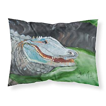 Carolines trésors JMK1003PILLOWCASE Alligator bleu tissu taie d'oreiller Standard