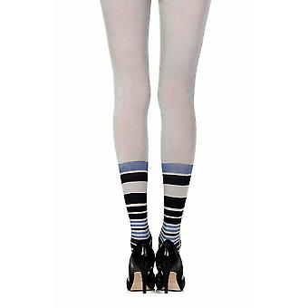 Zohara ZOR318-LGBB Women's It's Britney Grey and Blue Print Tights