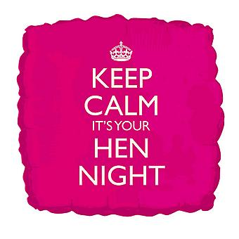 Creative Party 18 Inch Keep Calm Its Your Hen Night Balloon