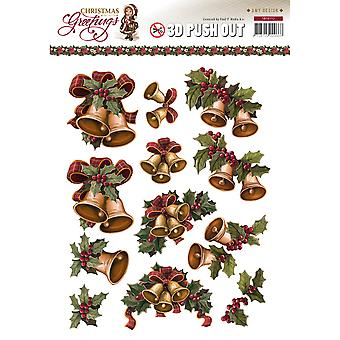 Find It Trading Amy Design Punchout Sheet-Christmas Bells SB10112