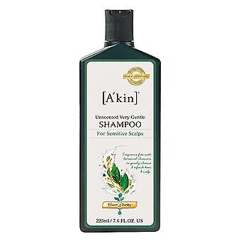 A'kin uparfumeret meget blid Shampoo for følsomme Scalps 225ml