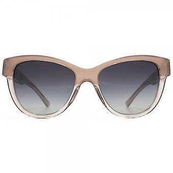 Burberry Two Tone Cateye Sunglasses In Opal Nude On Nude