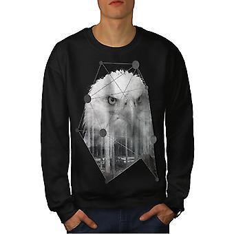 Eagle fugl frihed mænd BlackSweatshirt | Wellcoda