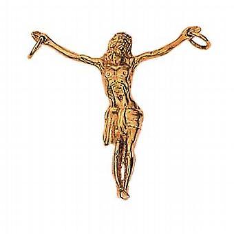 9ct Gold-39x38mm Corpus Christi Figur Anhänger