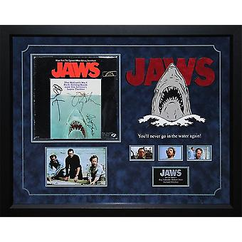 Jaws - Signed Movie Soundtrack Vinyl Album LP - Custom Framed Photo Collage