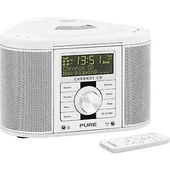 DAB+ Radio alarm clock Pure Chronos CD Serie II AUX, CD, DAB+, FM White