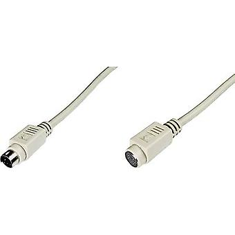 PS/2 Keyboard/mouse Cable extension [1x PS/2 plug - 1x PS/2 socket]