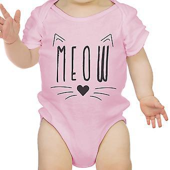 Miau Infant Bodysuit Geschenk Pink