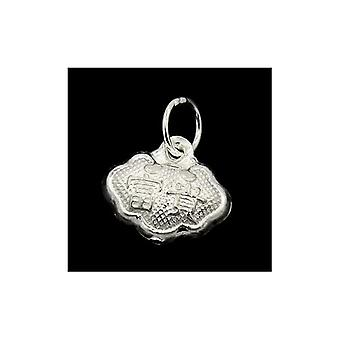 1 x Silver 925 Sterling Silver 10.5 x 12mm Lock Charm/Pendant ZX20005