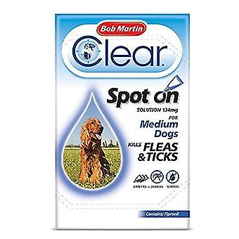 Bob Martin Clear Spot On Solution 3 x 134mg for Medium Dogs