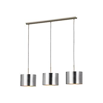 Eglo Ceiling Pendant 3 Light Nickel M/Silber Saganto
