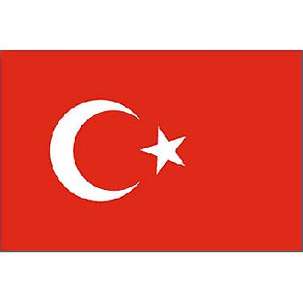 Tyrkia flagg 5 ft x 3 ft med Jer.