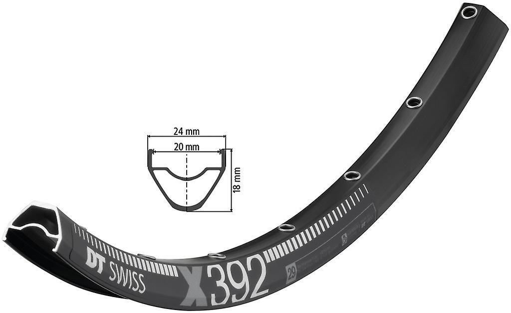 Roue de vélo DT Swiss X 392 noir     622-20 disques (29″)