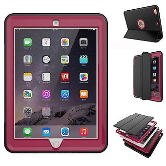 Multi-part hybrid outdoor protective cover case Pink for Apple iPad 2 / 3 / 4 Pocket wake UP 3folt