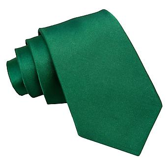 Emerald Green Plain Satin Classic Tie