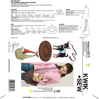 Harness, Leash, Bed and Carrier-Harness XS-S-M-L-XL Bed S-M-LCarr -*SEWING PATTERN*