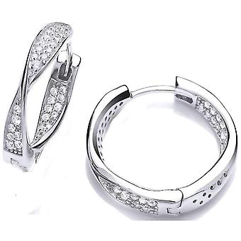 Cavendish French Twisted Hoop Earrings - Silver