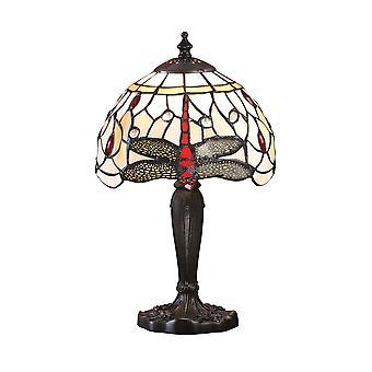 Interiors 1900 Beige Dragonfly Single Light Tiffany Mi