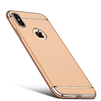 Cell phone cover case for Apple iPhone X bumper 3 in 1 cover chrome case gold