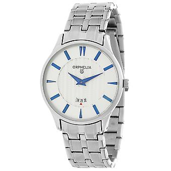 ORPHELIA Men's Analogue Watch The Flatline Silver Stainless steel 62501