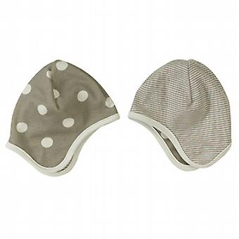 Spotty or stripey taupe bonnet
