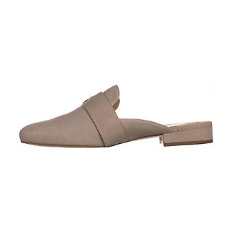 MICHAEL Michael Kors Womens Cooper Slide Leather Closed Toe Slide Flats