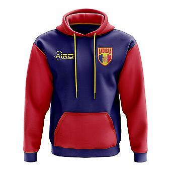 Andorra-Konzept Land Fußball Hoody (Marine)