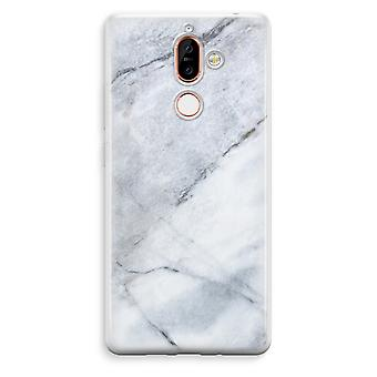 Nokia 7 Plus Transparent Case - Marble white