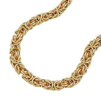 King chain bracelet AMD 19 cm gold plated round 5 mm