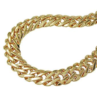 Fantasy chain 5 mm flat gold plated AMD 55cm