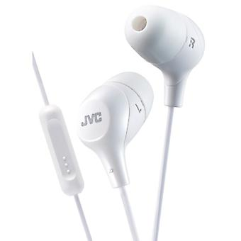 JVC HAFX38MW Marshmallow Custom Fit In-Ear Earphone with Remote & Mic - White