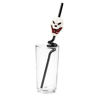 TRIXES Skull noir spirale boire paille - clignotant et criant - pour Halloween Parties et événements thématiques