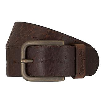 WRANGLER belt leather belts men's belts Brown 7461