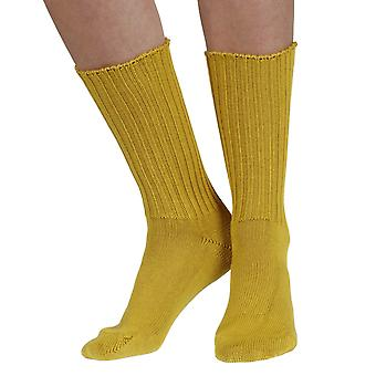 Fremont women's elastic free (soft topped) cotton crew socks in Inca