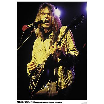 Neil Young poster Hammersmith Odeon, London