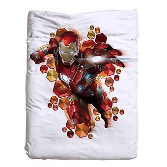 Iron Man täcke 140 x 200 cm