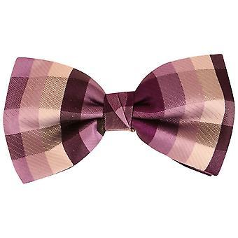 Knightsbridge Neckwear Squares Silk Bow Tie - Purple