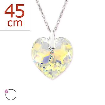 Heart Crystal From Swarovski® - 925 Sterling Silver + Crystal Necklaces - W29491x
