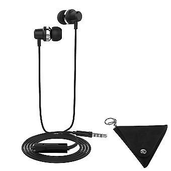 LANGSDOM J10 3,5 mm bas Stereo hoofdtelefoon-zwart