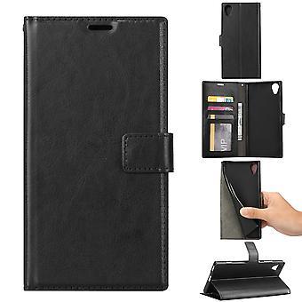 Plånboksfodral Sony Xperia XA1 Plus - Svart