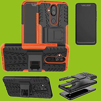 ノキア 3.1 プラス 6.0 インチ ハイブリッド ケース 2 個 SWL 屋外オレンジ アクセサリー バッグ ケース カバー保護