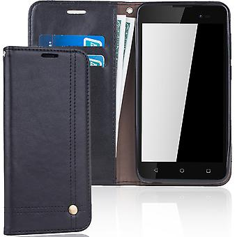 Cell phone cover case for WIKO sunny 2 plus cover wallet Pouch Black