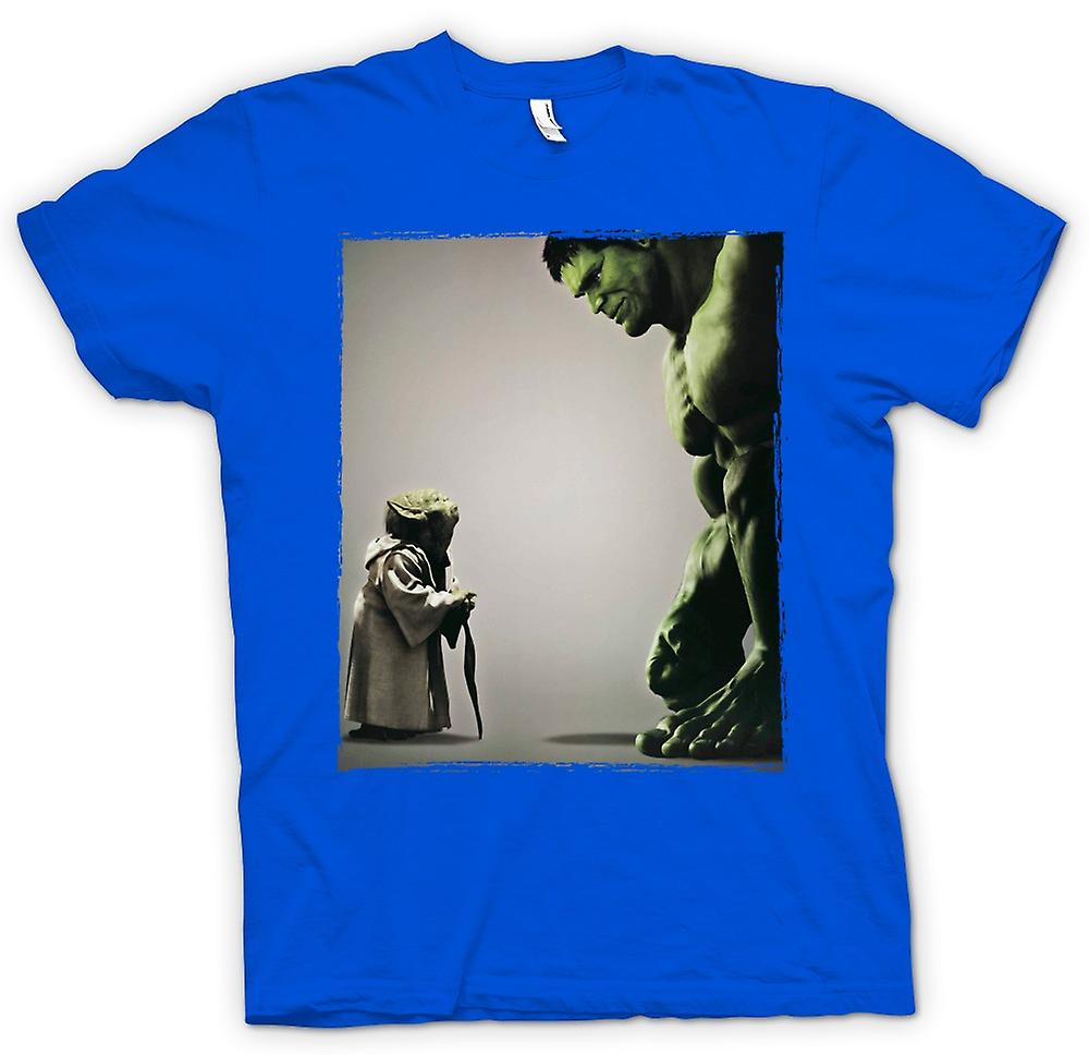 Mens t-shirt - Yoda V incredibile Hulk - Super eroe